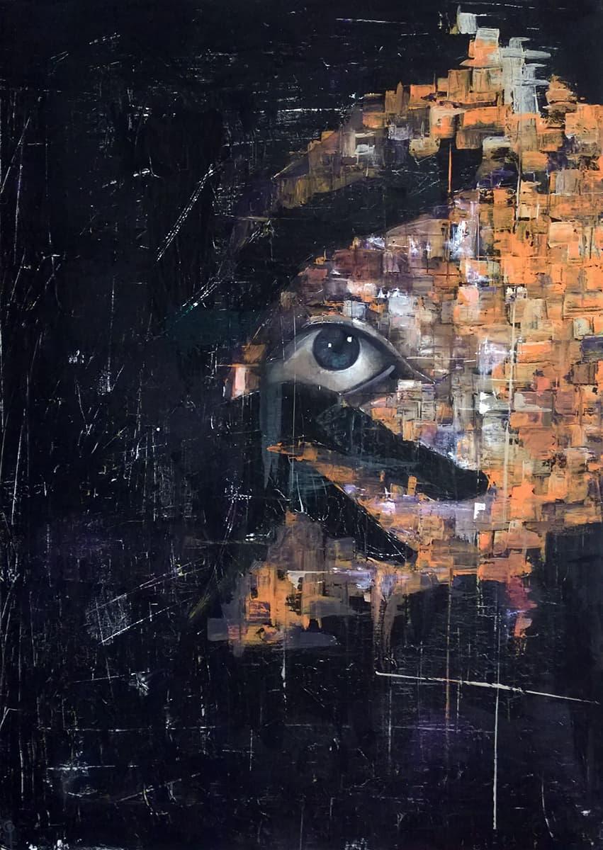 Ritratto Uomo Ombra di Giuseppe Bruno