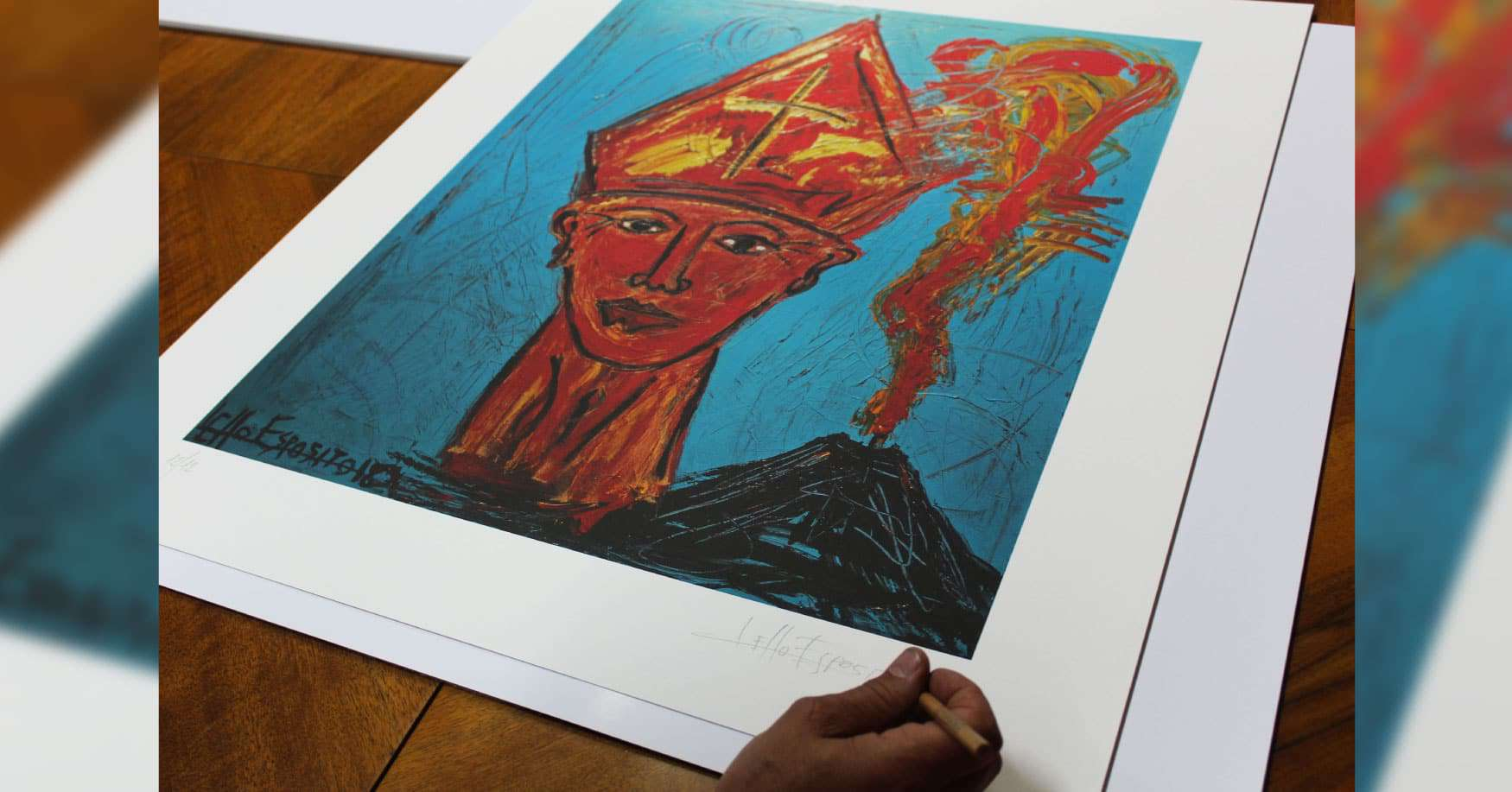 PrintLitoArt e l'artista Lello Esposito insieme per beneficenza
